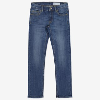 Jeans slim blå denim