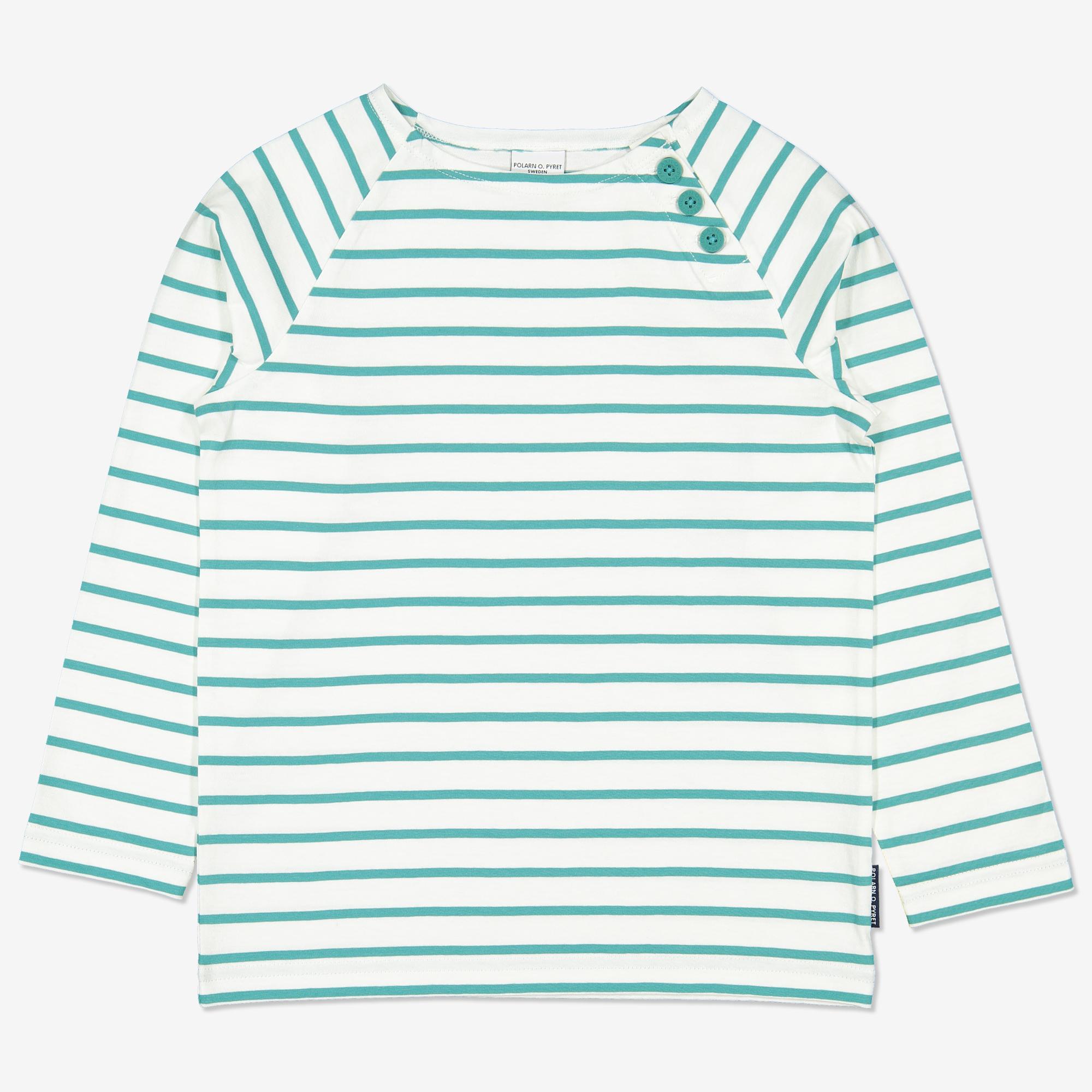 68b8bacb Langermet, stripete genser turkis | Polarnopyret.no