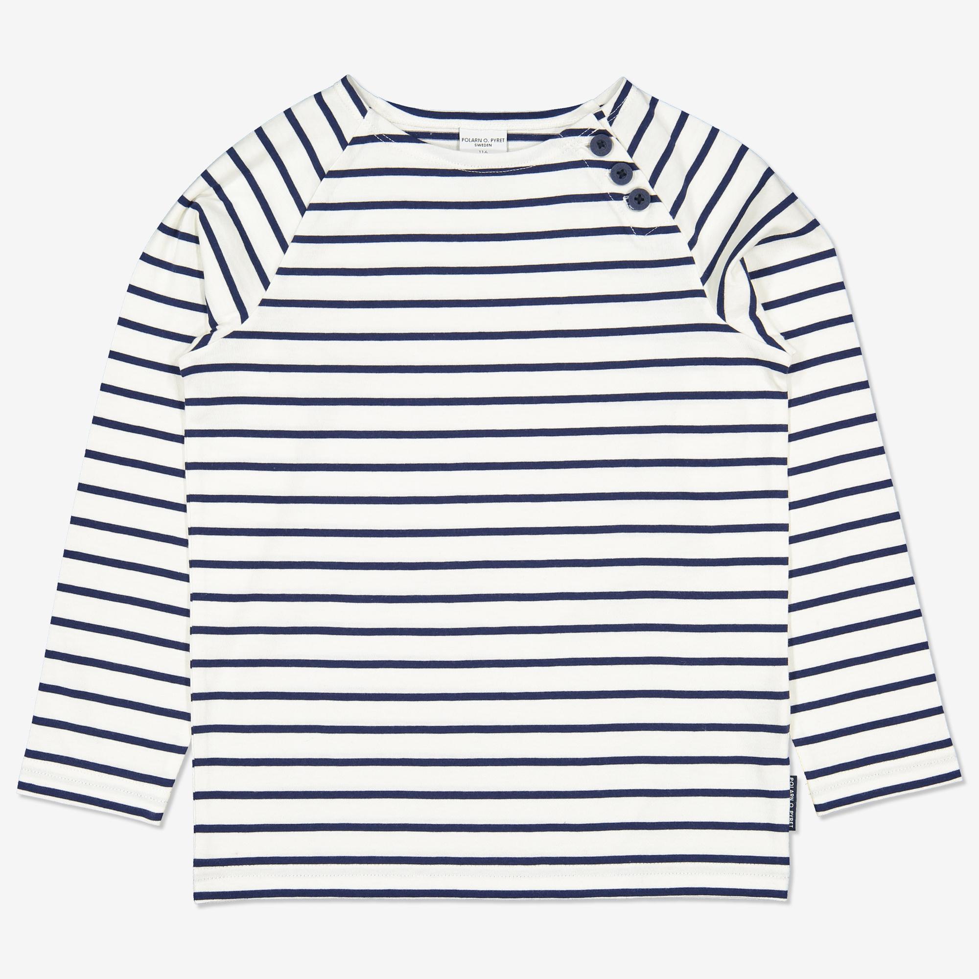 5488e1a7 Langermet, stripete genser mørkblå | Polarnopyret.no