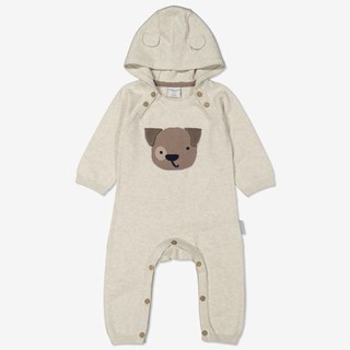 Strikket dress baby beige
