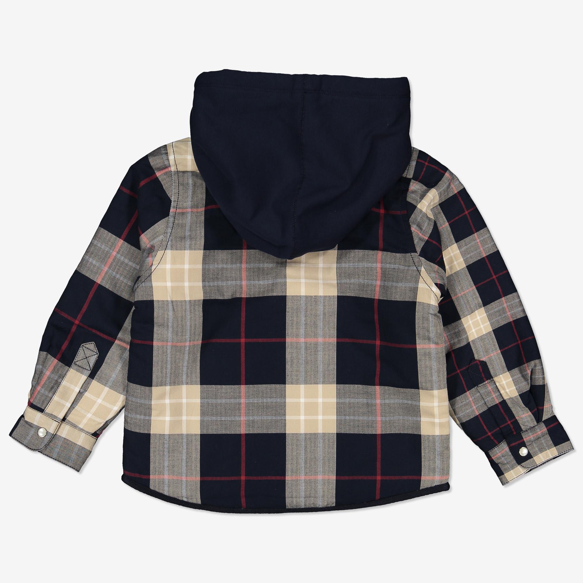 Rutet skjorte med hette mørkblå | Polarnopyret.no