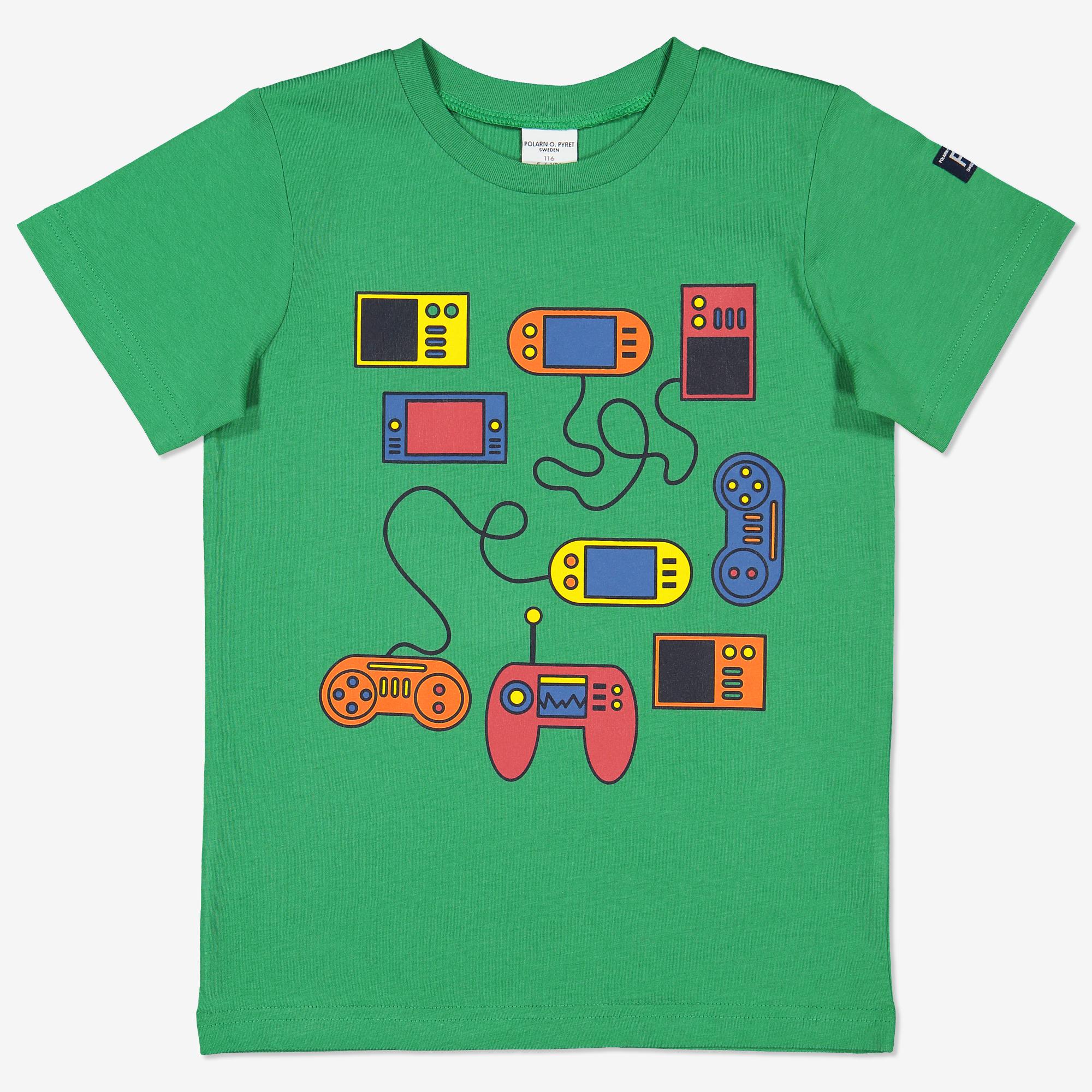 3ee42adc T-skjorte med trykk grønn | Polarnopyret.no