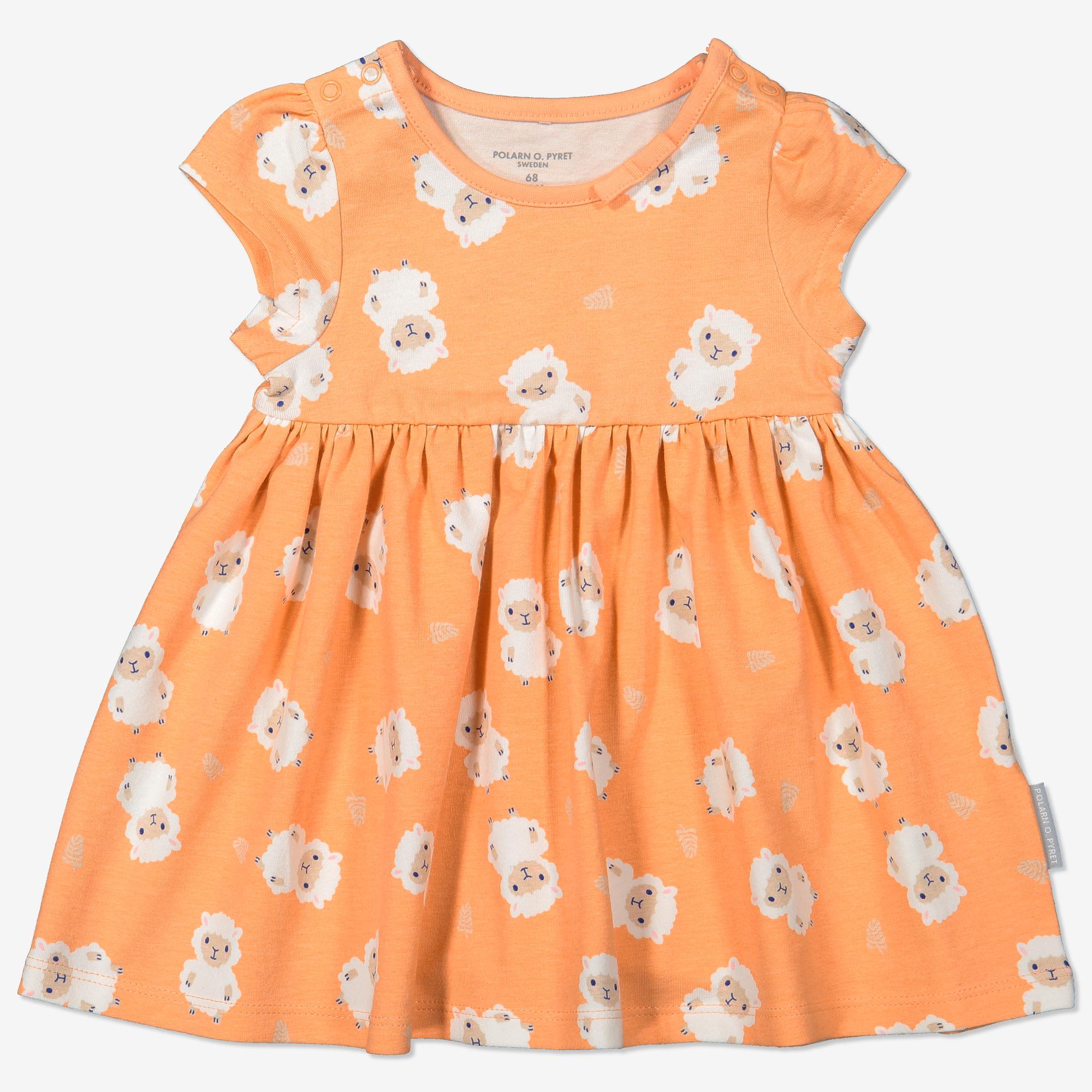 Kjole med trykk baby orange