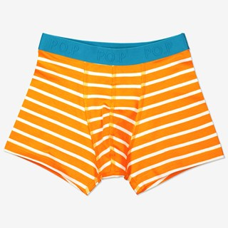 Stripet boksershorts orange