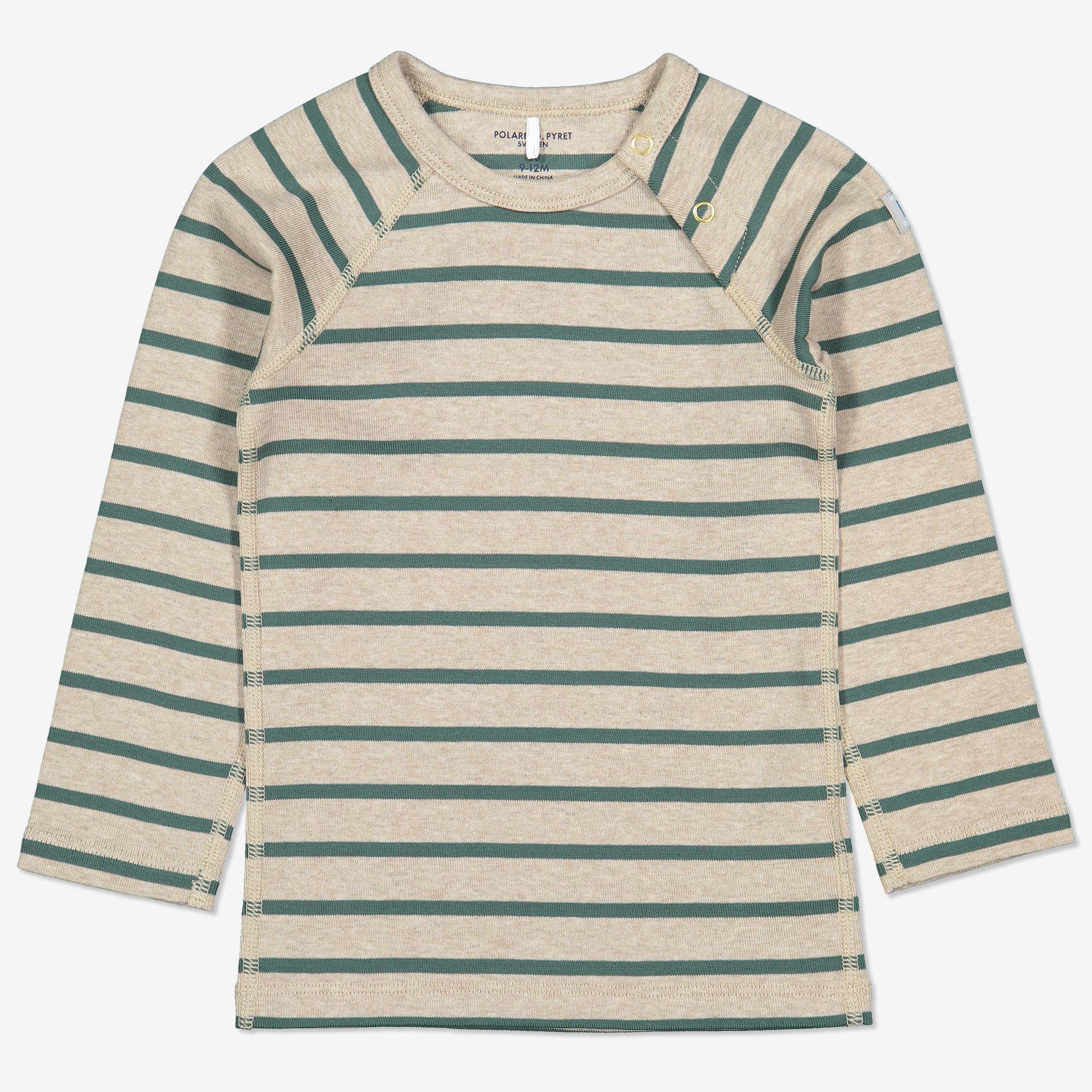 Stripet genser grønn | Polarnopyret.no